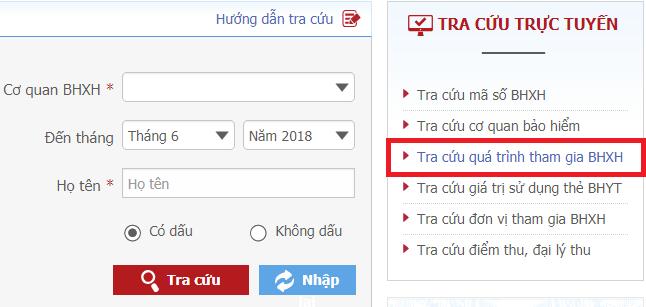bhhxh Tra cứu thông tin đóng BHXH với mã OTP