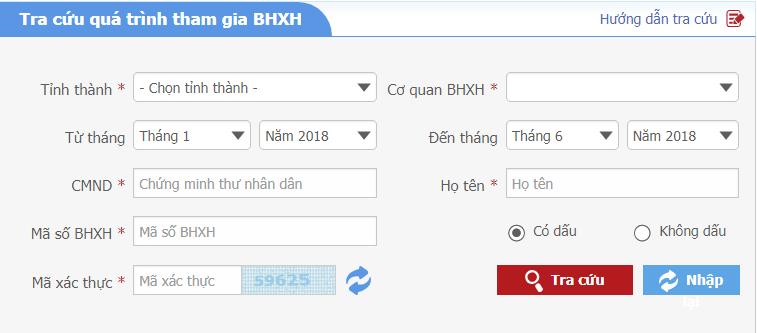 tttt Tra cứu thông tin đóng BHXH với mã OTP