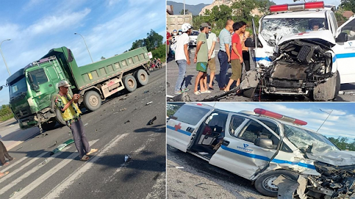 Khám nghiệm hiện trường tai nạn giao thông, tai nạn giao thông ở Bình Thuận