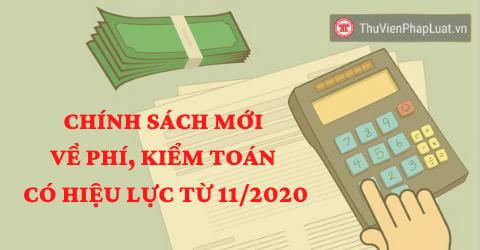Chính sách mới về phí, kiểm toán có hiệu lực từ tháng 11/2020