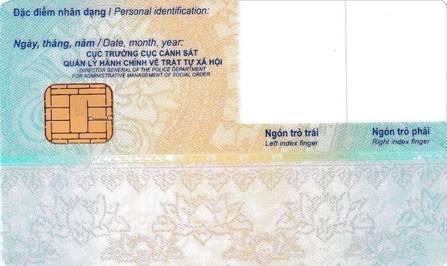 mẫu thẻ căn cước công dân gắn chíp