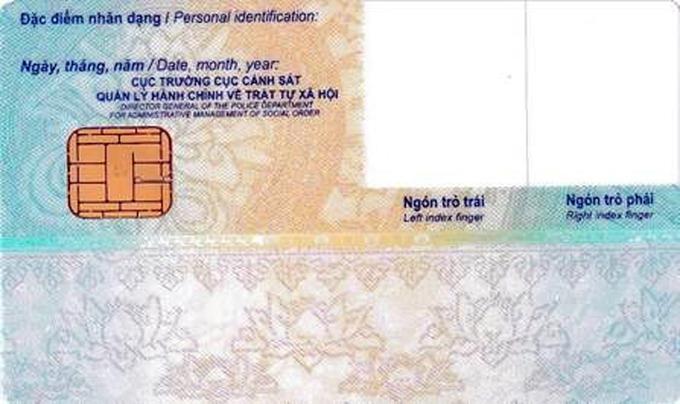 Công bố mẫu thẻ căn cước công dân gắn chip